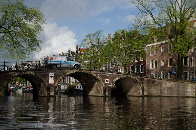 Amsterdam's charming beauty is in evidence everywhere you look. Photo © 2014 Aaron Saunders