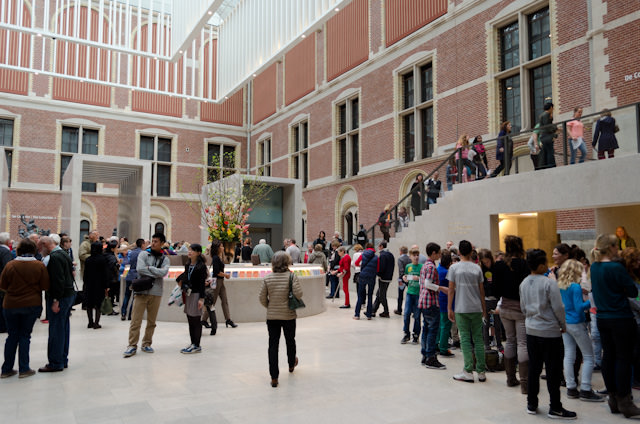 The stunning entrance courtyard in the Rijksmuseum is a modern work of art in and of itself. Photo © 2014 Aaron Saunders