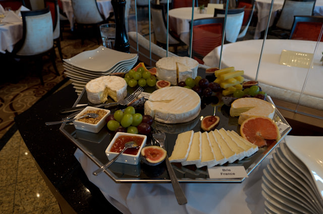 Say Cheese: the cheese plate aboard Tauck's ms Inspire is, well, inspiring. Photo © 2014 Aaron Saunders