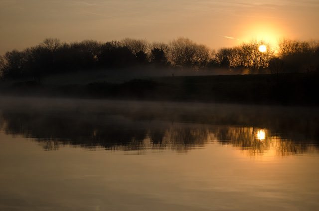 The kind of sunrise river cruises were made for! Photo © 2014 Aaron Saunders