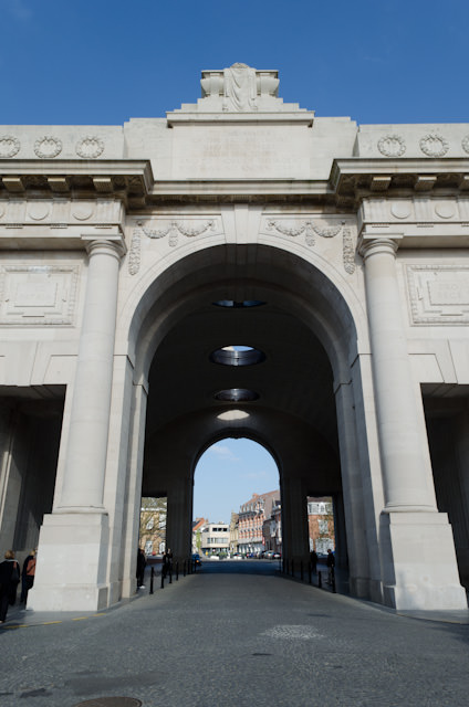 Menin Gate in Ieper. A memorial to the Commonwealth victims of the First World War who died in the region. Photo © 2014 Aaron Saunders