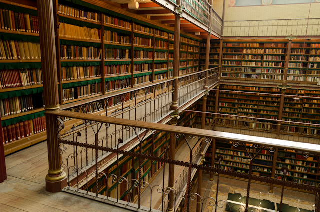 The Rijksmuseum's massive library reportedly houses over 300,000 titles. Photo © 2014 Aaron Saunders