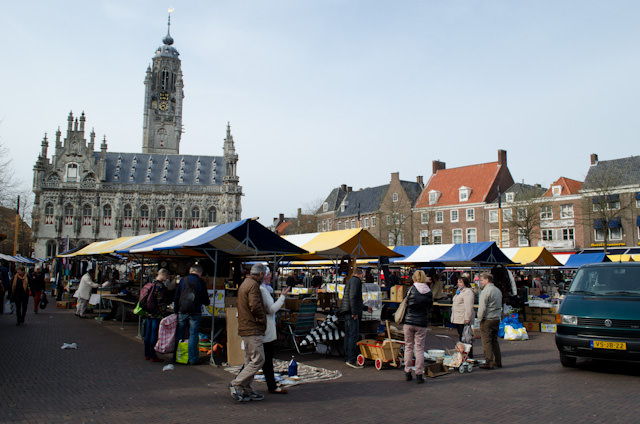 Middelburg's main town square, with a flea market in full swing. Photo © 2014 Aaron Saunders
