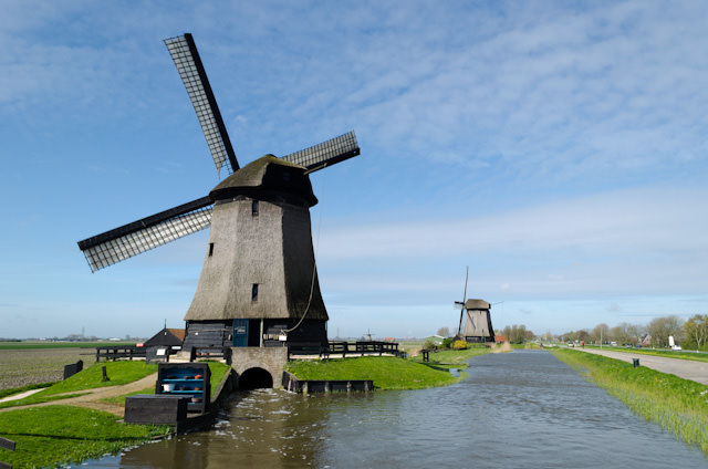 The historic Museummolen Schermerhorn was our second stop of the morning. No trip to the Netherlands is complete without seeing the country's iconic windmills - each of which serves a very important purpose. Photo © 2014 Aaron Saunders