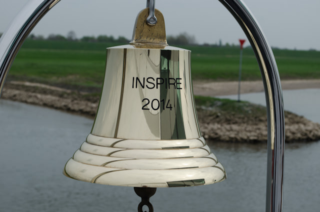 The traditional bell aboard Tauck's ms Inspire gleams as we sail along the Rhine. Photo © 2014 Aaron Saunders