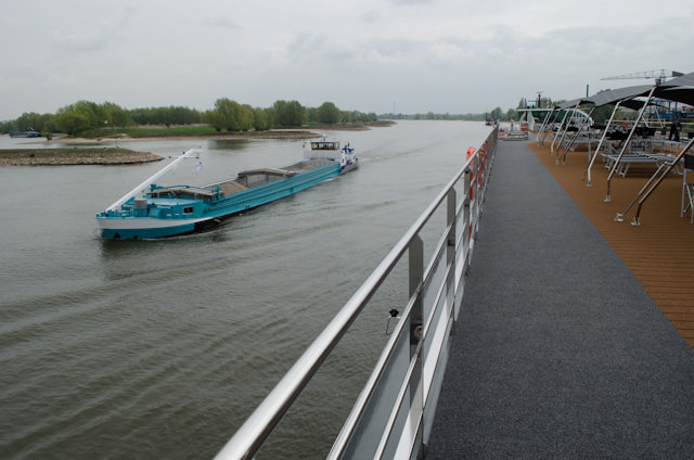 The Rhine is a very busy river, and an afternoon of scenic cruising makes for some excellent ship-spotting activities. Photo © 2014 Aaron Saunders