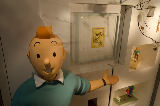 Because of the city's French influence, Tintin is everywhere... Photo © 2014 Aaron Saunders