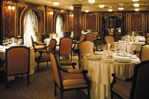 Step back in time - and indulge your palette - at the Olympic Restaurant aboard Celebrity Millennium, featuring real paneling from RMS Olympic - sister-ship to RMS Titanic. Photo courtesy of Celebrity.