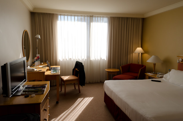 My room at the Pan Pacific Perth. Photo © 2014 Aaron Saunders