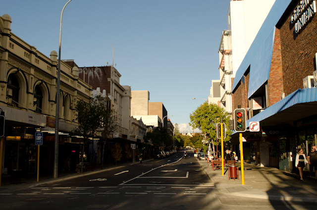 Pretty - but oddly deserted - Perth, Australia. Photo © 2014 Aaron Saunders
