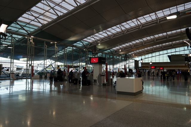 Terminal 3 at Sydney's Kingsford Smith Airport handles domestic operations for Qantas. Photo © 2014 Aaron Saunders