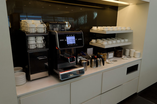 In the Lounge, make your own drink - or let the on-site Barista do it for you! Photo © 2014 Aaron Saunders