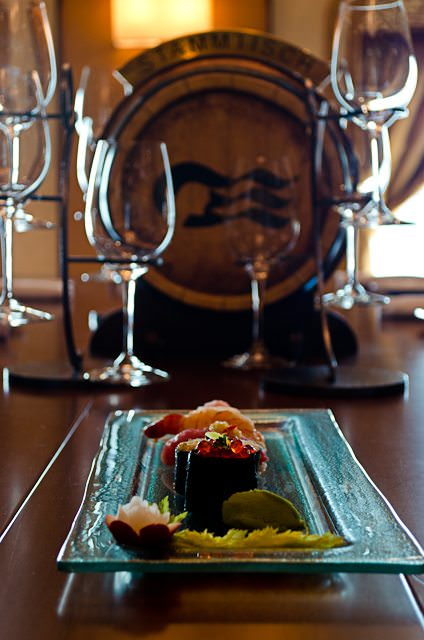 Sampling sushi aboard Sapphire Princess in Vines. Photo © 2012 Aaron Saunders