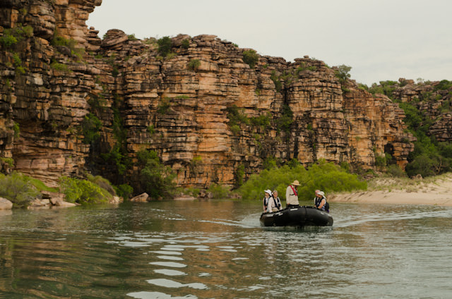 Once again, we set out via Zodiac on another adventure in Australia's Kimberley. Photo © 2014 Aaron Saunders