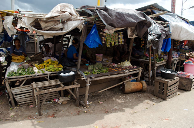 We passed a local market on our way into Waikelo. I would have loved to have browsed around there! Photo © 2014 Aaron Saunders