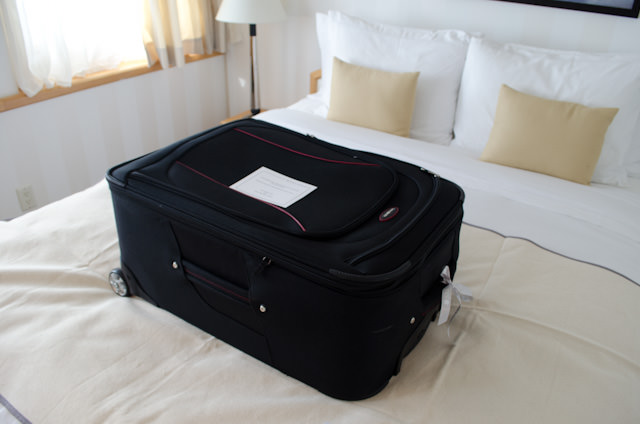 A sure sign your Silversea cruise is coming to an end: your luggage is cleaned, sanitized, and placed on your bed, ready for packing. Photo © 2014 Aaron Saunders