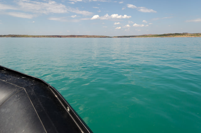 At first glance, the landscape off Swift Bay doesn't look all that inviting. Photo © 2014 Aaron Saunders