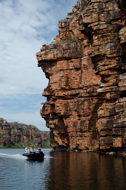The scale of the landscape in the King George River is immense. Photo © 2014 Aaron Saunders