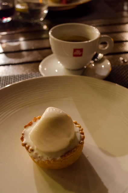 No hot rocks dining experience is complete without Silversea's delicious 'Apple Pie.' Photo © 2014 Aaron Saunders