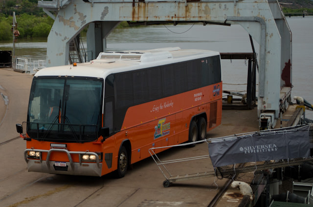 Our transportation for the morning. Check out the heavy-duty grill and windscreen protectors. Photo © 2014 Aaron Saunders
