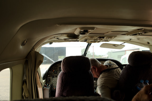 The inside of the Cessna is more cramped than I would have expected. Photo © 2014 Aaron Saunders