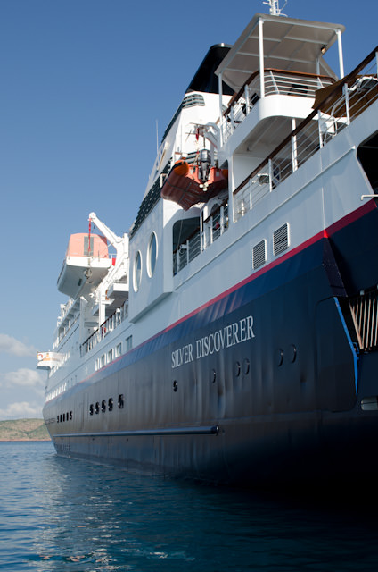 Silversea's newest Expedition vessel, Silver Discoverer, at anchor in Yampi Sound, Australia. Photo © 2014 Aaron Saunders