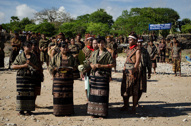 We were greeted by a full ceremony performed by the locals of Savu. Photo © 2014 Aaron Saunders
