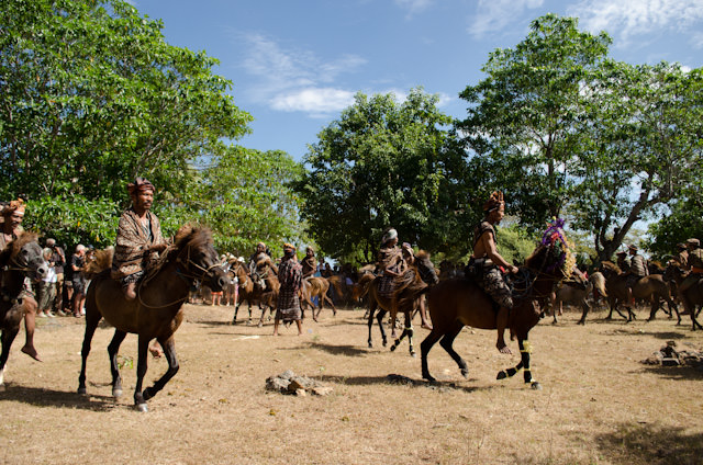 Afterwards, we watched a horseback ceremony... Photo © 2014 Aaron Saunders