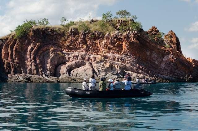 Our morning excursion included a two-hour Zodiac ride along the amazing Yampi coastline. Photo © 2014 Aaron Saunders