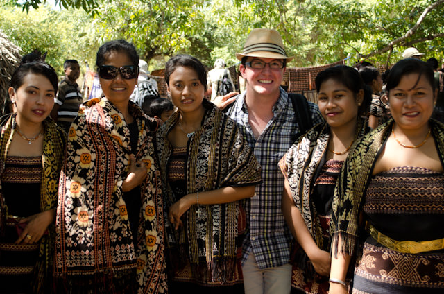 Making new friends in Indonesia. Photo © 2014 Aaron Saunders