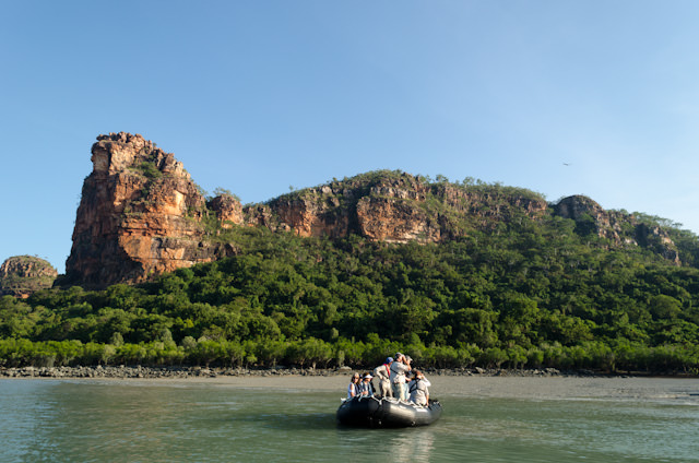 Cruising Australia's Hunter River in search of wildlife. Photo © 2014 Aaron Saunders