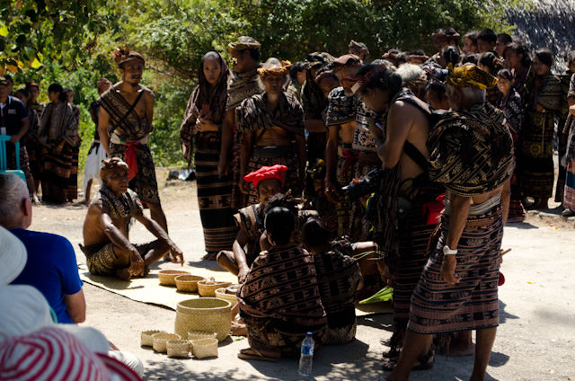 Locals bless a child in an elaborate ceremony. Photo © 2014 Aaron Saunders