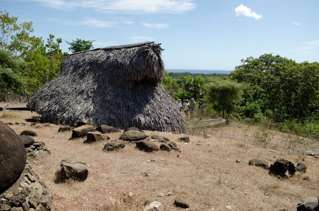 Traditional thatched huts in Savu, Indonesia. Photo © 2014 Aaron Saunders