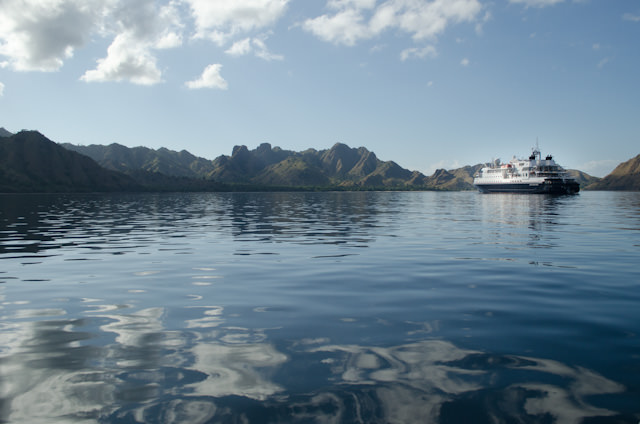 Returning back to Silversea's Silver Discoverer. Photo © 2014 Aaron Saunders
