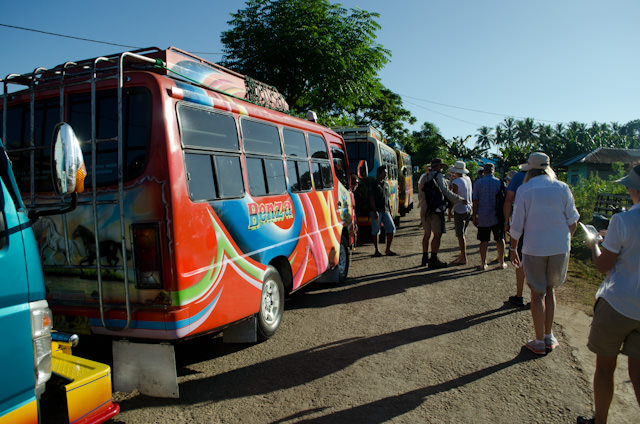 Our transportation across the island. Photo © 2014 Aaron Saunders