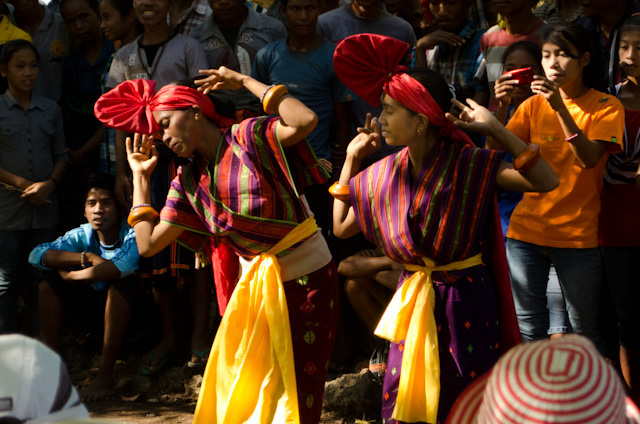 Traditional dances were beautiful and the excitement of the locals - many of whom stood on the sidelines to cheer and holler and yell - was palpable. Photo © 2014 Aaron Saunders