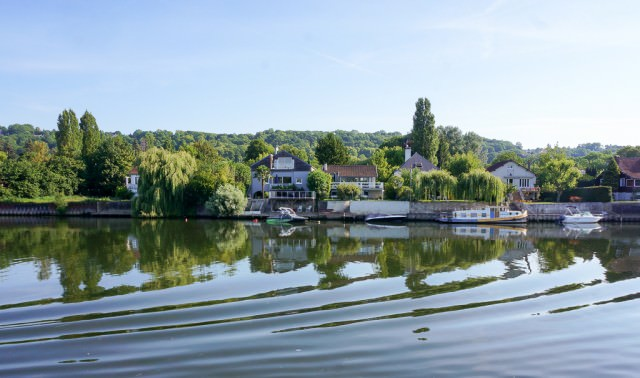 CroisiEurope's Botticelli spent the morning cruising the Seine en route to Vernon. © 2014 Ralph Grizzle
