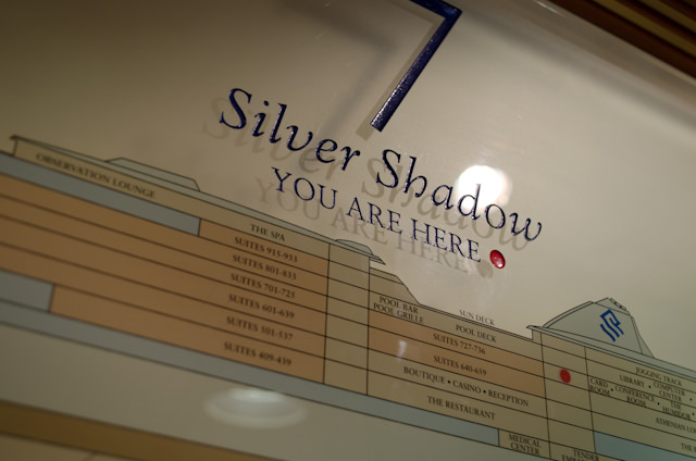 I Am Here, onboard Silversea's luxurious Silver Shadow - bound for Alaska. Photo © 2014 Aaron Saunders