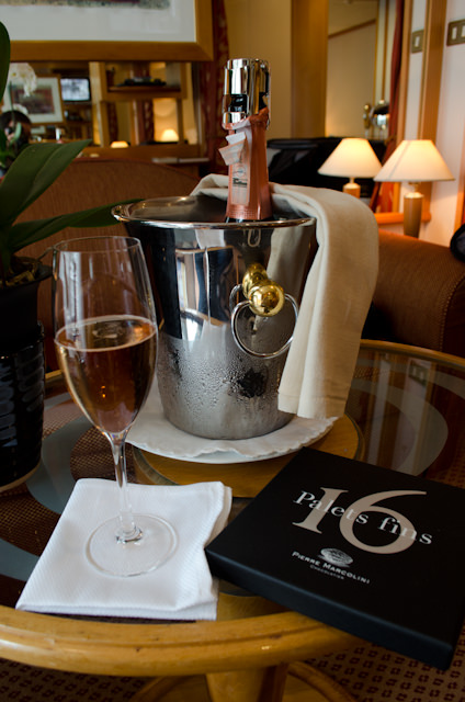 My butler, Muhammad, explained everything in my suite for me, and even uncorked the champagne. Photo © 2014 Aaron Saunders