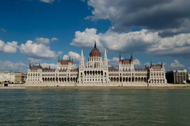The gorgeous Hungarian Parliament building, as seen from Emerald Star. Photo © 2014 Aaron Saunders