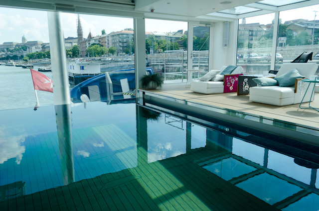 The Swimming Pool aboard Emerald Star. Photo © 2014 Aaron Saunders