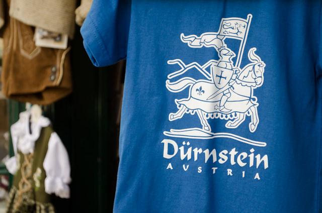 Durnstein's medieval history is on display to this day - and also in souvenir form. Photo © 2014 Aaron Saunders