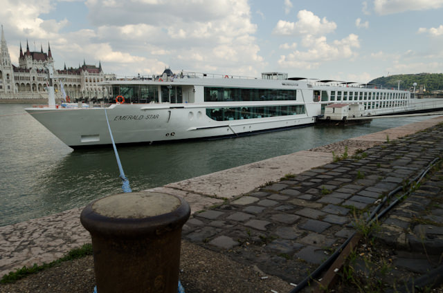 Emerald Waterways' Emerald Star docked in Budapest on July 12, 2014. Photo © 2014 Aaron Saunders