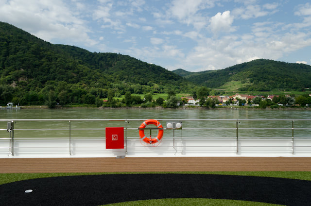 Emerald Star's Sun Deck was the place to be for our mid-morning scenic cruising along the Danube. Photo © 2014 Aaron Saunders
