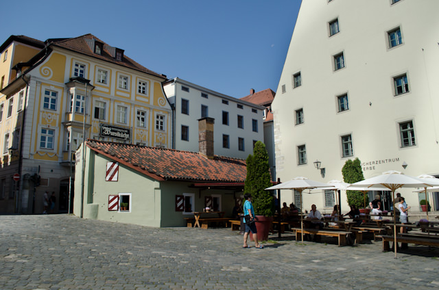 There's much to see in Regensburg, from the oldest sausage kitchen in Germany...Photo © 2014 Aaron Saunders