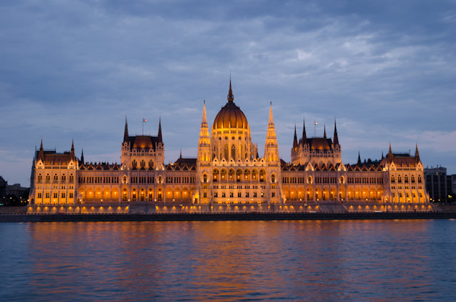 The Hungarian Parliament at night is a spectacular sight. Photo © 2014 Aaron Saunders