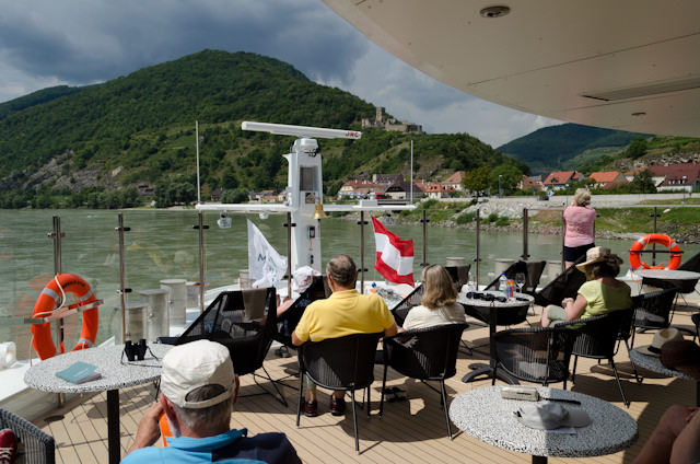 Our scenic cruising took us from Durnstein to Melk, located at Km 2035 along the Danube. Photo © 2014 Aaron Saunders