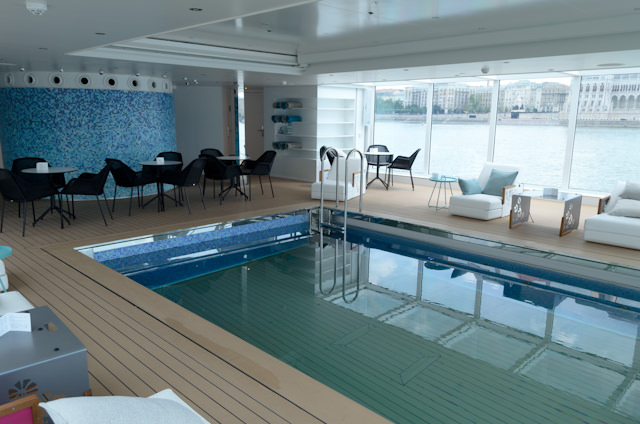 You can also get coffee and tea in the Pool Area aft on Deck 3. The Swimming Pool opens daily at 0800. Photo © 2014 Aaron Saunders