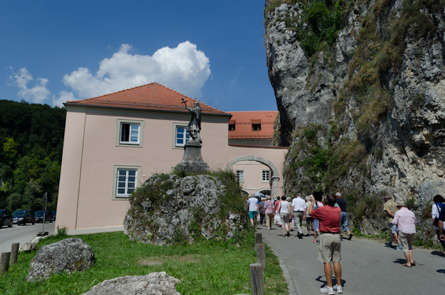 Approaching the entrance to Weltenburg Abbey...Photo © 2014 Aaron Saunders