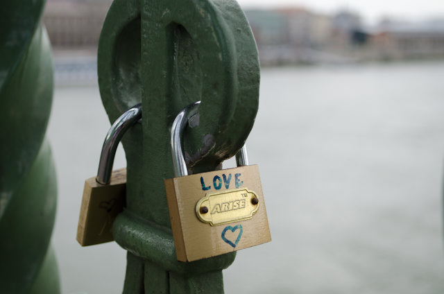 Even Budapest isn't immune to the love-padlock-craze that has swept much of Europe. Photo © 2014 Aaron Saunders